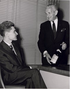 Michel Dreyfus (right) and Robert Drouhin.